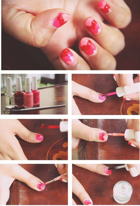 DIY Dates: Fill Your Nails with Hearts!